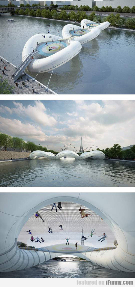 This Inflatable Bridge In Paris, France Is Awesome