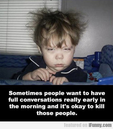 Dealing With Morning People