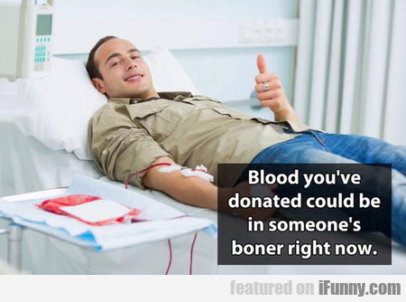When You Donate Blood