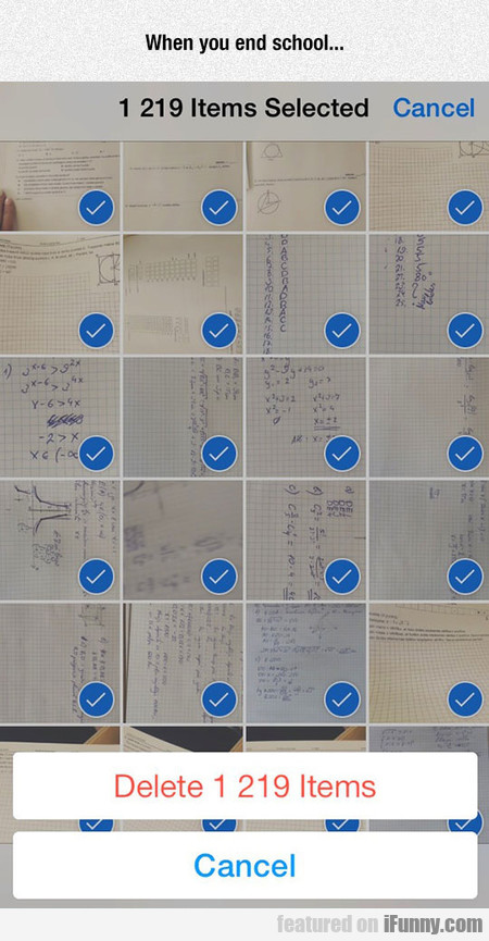 When you end school