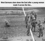 West Germans Stare Down The East
