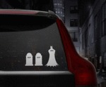 If Batman Had Family Car Stickers