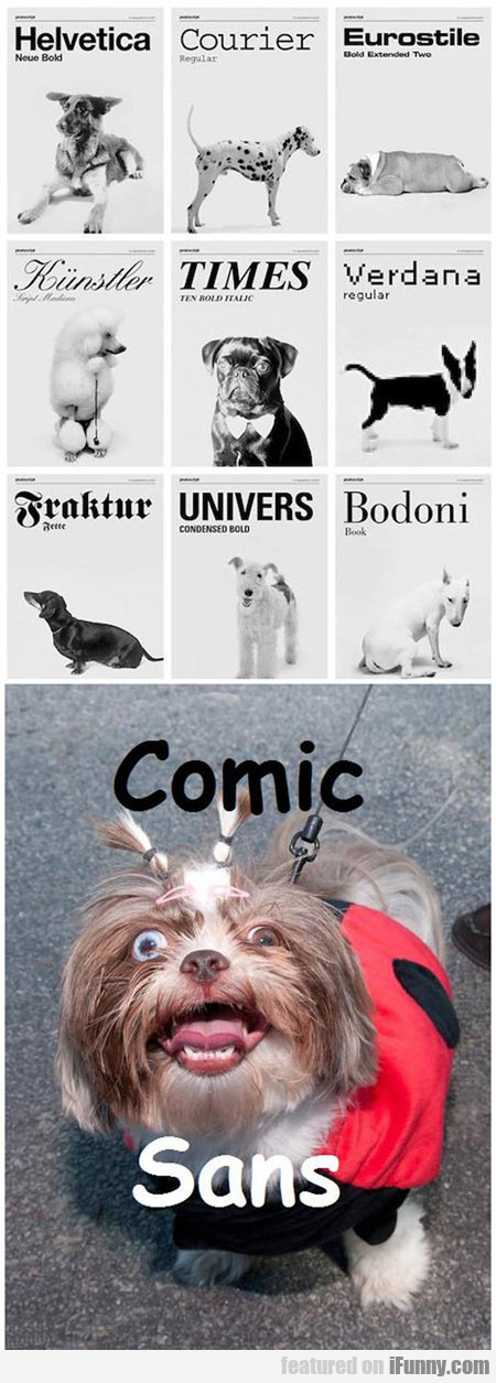 If Dogs Were Actually Fonts