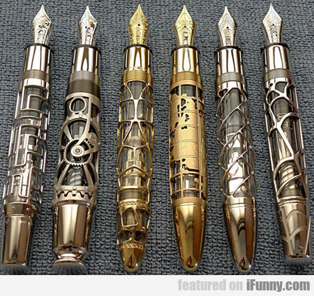 Beautiful Hand Made Skeleton Fountain Pens