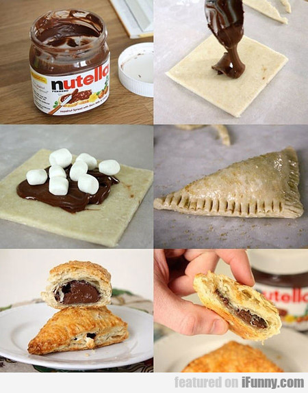 Delicious Nutella Marshmallow Turnover