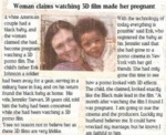 Woman Claims Watching 3d Films Made Her Pregnant