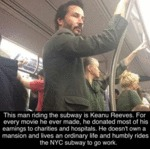 This Man Riding The Subway Is Keanu Reeves