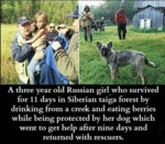 A Three Year Old Russian Girl Who Survived...