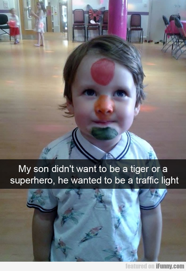 My Son Didn't Want To Be A Tiger Or A Superhero