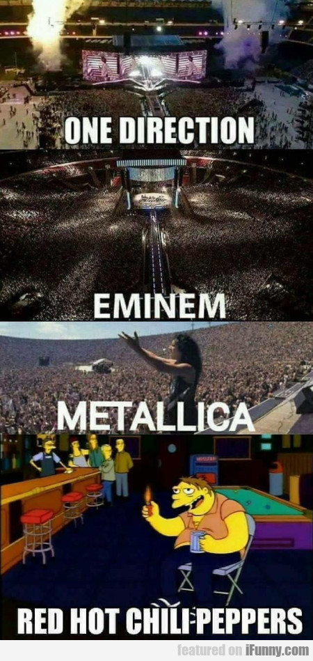 One Direction - Eminem - Metallica - Rhcp