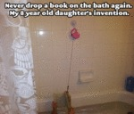 Never Drop A Book On The Bath Again