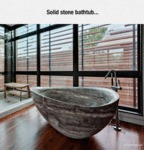 Solid Stone Bathtub