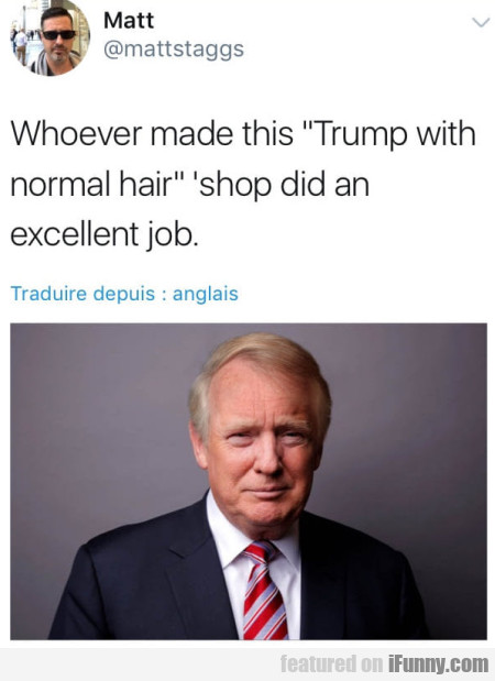 Whoever Made This Trump With Normal Hair...