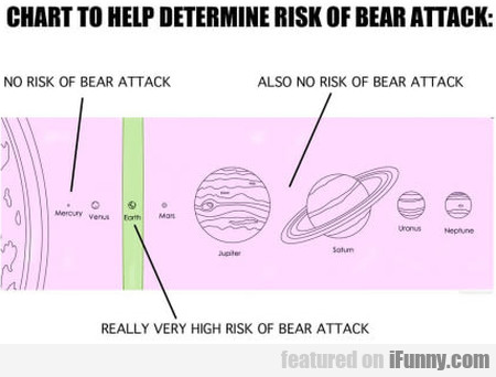Chart To Help Determine Risk Of Bear Attack...