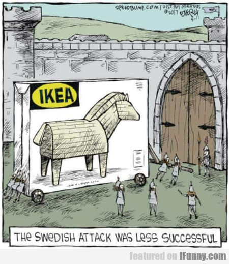 The Swedish Attack Was Less Successful...