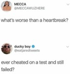 What's Worse Than A Heartbreak - Ever Cheated...