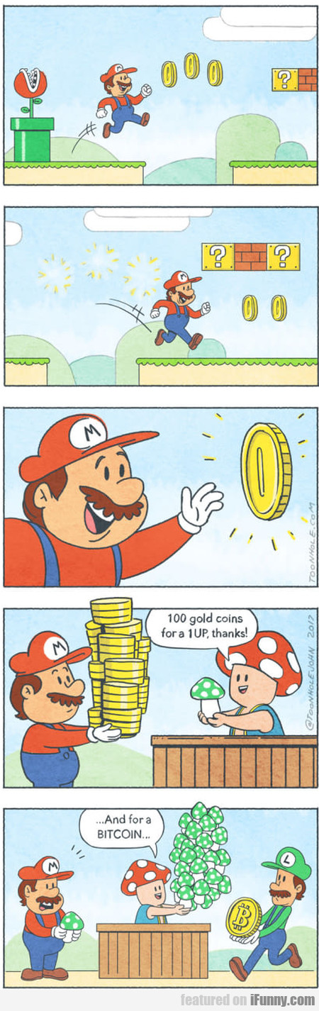 100 Gold Coins For A 1up, Thanks!