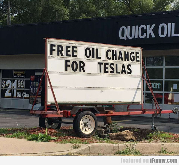 Quick Oil - Free Oil Change For Teslas