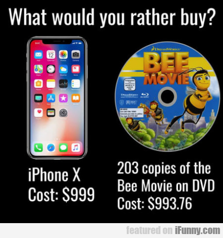 What would you rather buy?  iphone X...