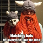 Matching Hats - Not Everyone Likes The Idea