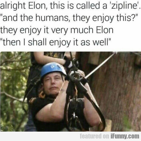 Alright Elon, This Is Called A Zipline...