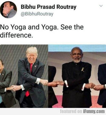 No Yoga And Yoga. See The Difference.