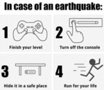 In Case Of An Earthquake - Finish Your Level