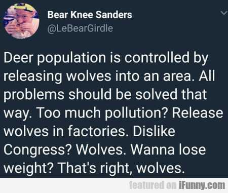 Deer Population Is Controlled By Releasing...