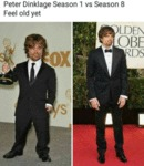 Peter Dinklage Season1 Vs Season 8. Feel Old Yet..
