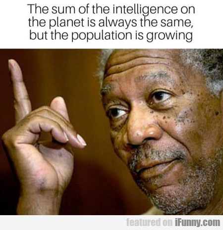 The Sum Of The Intelligence On The Planet Is...