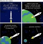 The Flat Earth Society - Wins A Free Trip To Space