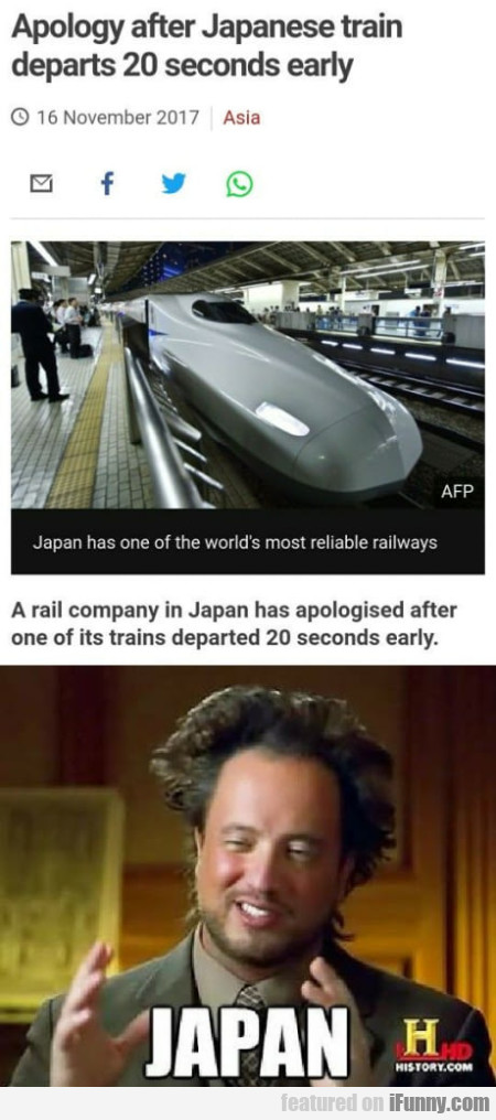 Apology After Japanese Train Departs 20 Seconds...