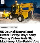 Uk Council Name Road Gritter 'gritsy Bitsy