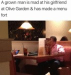 A Grown Man Is Mad At His Girlfriend At Olive...