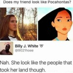 Does My Friend Look Like Pocahontas?