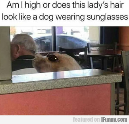 Am I high or does this lady's hair look like a...