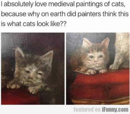 I Absolutely Love Medieval Paintings Of Cats...