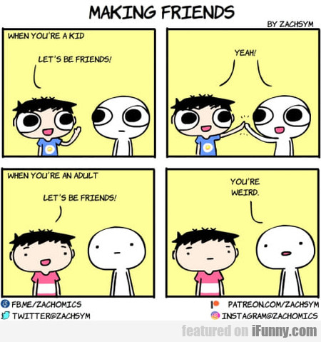 Making Friends: When You're A Kid....