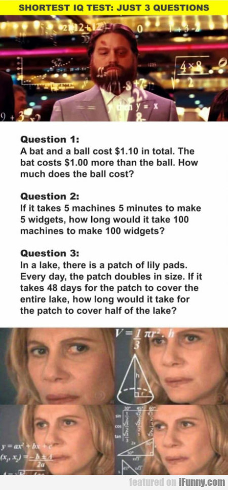 Shortest Iq Test - Just 3 Questions...
