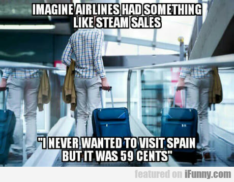 Imagine Airlines Had Something Like Steam Sales..