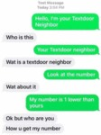 Hello, I'm Your Textdoor Neighbor - Who Is This...