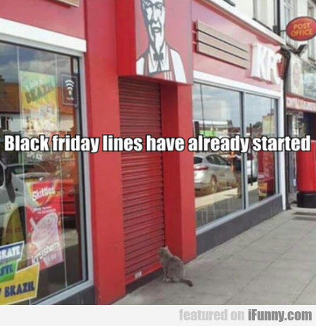 Black Friday Lines Have Already Started