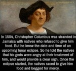 In 1504 Christopher Columbus Was Stranded In...