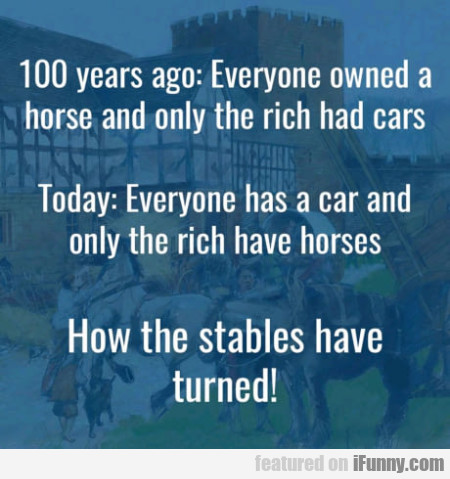 100 Years Ago - Everyone Owned A Horse And...