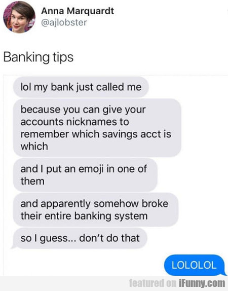 Banking Tips - Lol My Bank Just Called Me