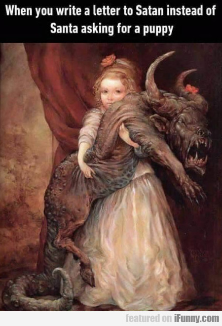 When You Write A Letter To Satan Instead Of Santa