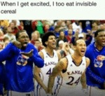 When I Get Excited I Too Eat Invisible Cereal...
