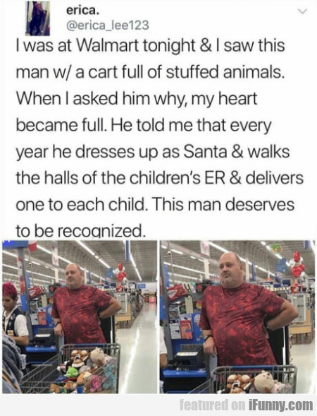 I Was At Walmart Tonight & I Saw This Man...