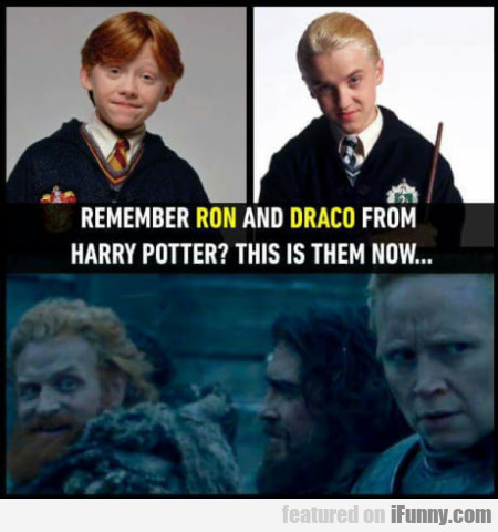 Remember Ron and Draco from Harry Potter...