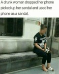 A Drunk Woman Dropped Her Phone Picked Up Her...